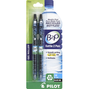 Pilot Gel Roller Pens, Fine (0.7 mm), Black Ink