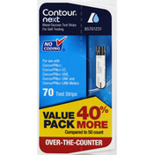 Contour Blood Glucose Test Strips, Value Pack