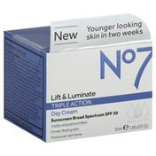 No7 Day Cream, Triple Action, Lift & Luminate, SPF 30
