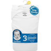 Gerber One Piece Underwear, with Long Sleeves, 3-6 Months