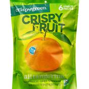Crispy Green Crispy Fruit, All Tangerine, 6 Snack Packs
