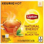 Lipton Black Tea K-cup Natural Energy