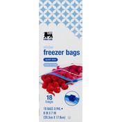 Food Lion Freezer Bags, Slider, Write-On Strip, Quart Size