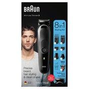 Braun Mgk3260 8-In-1 Body Grooming Kit, Body Groomer, Beard Trimmer, And Hair