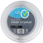 Simply Done Plastic Plates, Clear Crystal