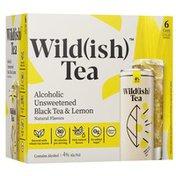 Wild(ish) Alcoholic Unsweetened Black Tea and Lemon Cans