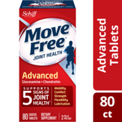 Movefree® Glucosamine & Chondroitin Advanced Joint Health Supplement Tablets, Supports Mobility & Flexibility