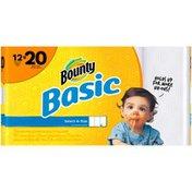 Bounty Basic Select-A-Size Mega Rolls White Paper Towels