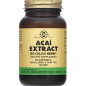 Solgar Acai Extract, Softgels, Brazilian Berry