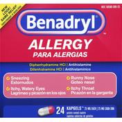 Benadryl Allergy, 25 mg, KapGels