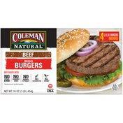Coleman Uncooked Beef Burgers