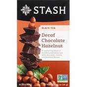 Stash Tea Black Tea, Chocolate Hazelnut, Decaf, Tea Bags