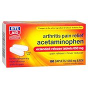 Rite Aid Arthritis Pain Relief Acetaminophen Extended-Release Tablets 650 Mg