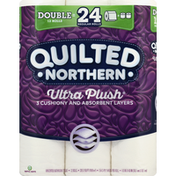 Quilted Northern Bathroom Tissue, Unscented, Ultra Plush, 3-Ply