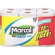 Marcal® 1-Ply 1150-Sheet Rolls Bathroom Tissue