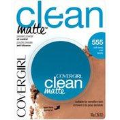 CoverGirl Clean Matte Pressed Powder Soft Honey Female Cosmetics