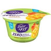 Dannon Zero Artificial Sweeteners Peach Mango Nonfat Yogurt