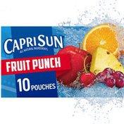 Capri Sun Fruit Punch Naturally Flavored Juice Drink Blend