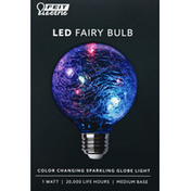 Feit Electric Light Bulb, LED, 1 Watt, Fairy, Sparkling Globe,