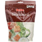 Hy-Vee Croutons, Baked, Seasoned, Premium Large Cut