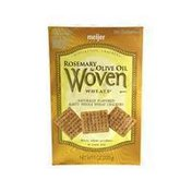 Meijer Woven Wheat Rosemary & Olive Oil Crackers
