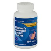 CareOne Children's Chewable Animal Shapes Dietary Supplement Tablets - 150 CT