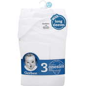 Gerber One Piece Underwear, with Long Sleeves, 6-9 Months