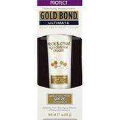 Gold Bond Age Defense Cream, Neck & Chest, Broad Spectrum SPF 20
