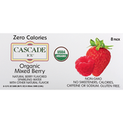 Cascade Ice Sparkling Water, Organic, Mixed Raspberry, 8 Pack
