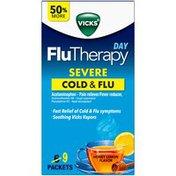 Vicks Flu Therapy Day Non-Drowsy, Honey Lemon