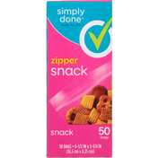 Simply Done Snack Bags, Zipper