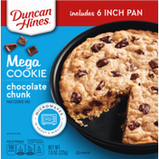 Duncan Hines Pan Cookie Mix, Chocolate Chunk, Mega Cookie