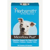 Herbsmith Inc. Herbsmith Microflora Plus Digestive Support For Dogs & Cats - 60 CT
