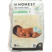 Honest Tea Diapers, Above It All, Lil Peanut, Newborn (Less than 10 lbs)