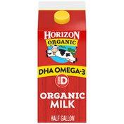 Horizon Organic Vitamin D DHA Omega 3 Organic Milk