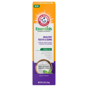 Arm & Hammer Essentials Healthy Teeth & Gums Fluoride Toothpaste-One Tube, Crisp Mint- 100% Natural Baking Soda- Fluoride Toothpaste