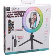 Premier Selfie Ring Light Tripod & Phone Holder, RGB