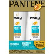 Pantene Pro-V Smooth & Sleek Shampoo and Conditioner Dual Pack Hair Care