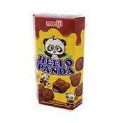 Meiji Hello Panda Choco Biscuits With Choco Cream, Double Choco