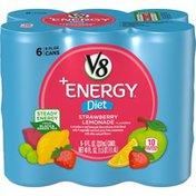 V8 Healthy Energy Drink, Natural Energy from Tea, Diet Strawberry Lemonade