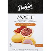 Bubbies Ice Cream, Blood Orange, Mochi