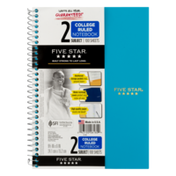 Five Star 2 Subject College Ruled Notebook