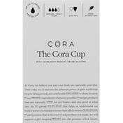 Cora Menstrual Cup, Medium - Heavy Flow, Size Two