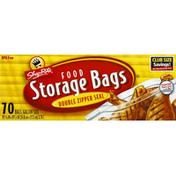 ShopRite Food Storage Bags, Double Zipper Seal