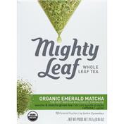 Mighty Leaf Green Tea, Organic Emerald Matcha, Caffeine, Pyramid Pouches