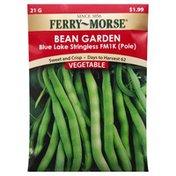 Ferry Morse Seeds, Bean Garden, Blue Lake Stringless FM1K (Pole)