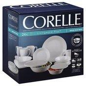 Corelle Dinnerware, Winter Frost White, 24 Piece