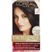 Excellence Permanent Haircolor, Dark Brown 4