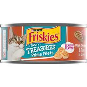 Friskies Cat Food, Prime Fillets, with Chicken & Tuna in Gravy, Scallop Flavor