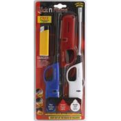 Click n Flame Lighters, Super Value 3 Pack